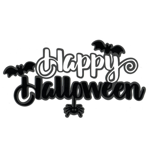 Scrapbooks From The Heart Diecut Title: Happy Halloween with Bats