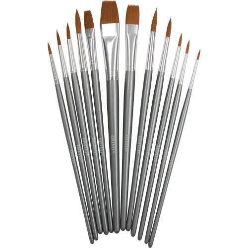 Nuvo Nylon Paint Brushes (12 pack)