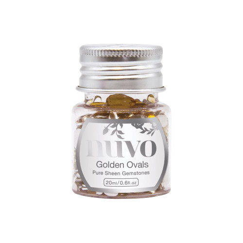 Nuvo Pure Sheen Gemstones: Golden Ovals
