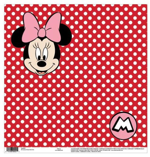 EK Success Disney 12x12 Paper: Minnie Red Dots