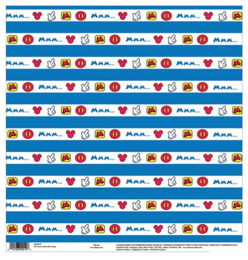 EK Success Disney 12x12 Paper: MMM Blue Stripes