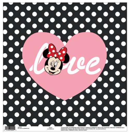 EK Success Disney 12x12 Paper: Minnie Love Dots