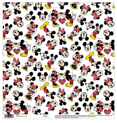 EK Success Disney 12x12 Paper: Mickey Minnie White