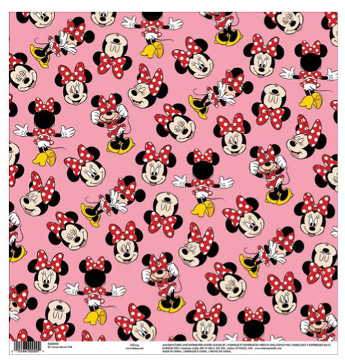 EK Success Disney 12x12 Paper: Minnie Pink
