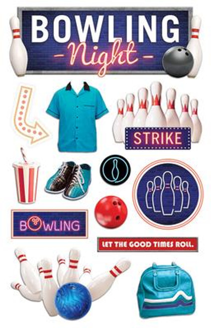 Paper House Productions 3D Stickers: Bowling