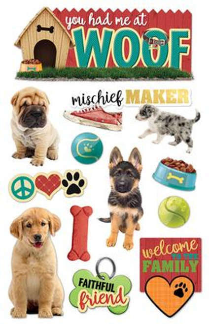 Paper House Productions 3D Stickers: You Had Me At Woof
