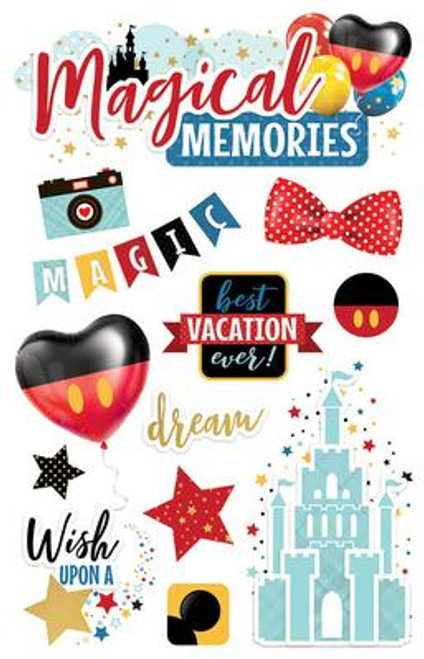 Paper House Productions 3D Stickers: Magical Memories
