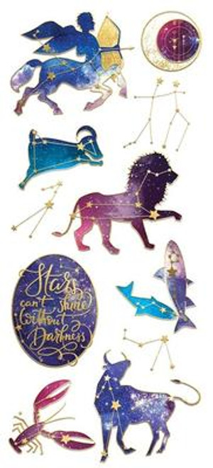 Paper House Sticky Pix Faux Enamels Stickers: Celestial