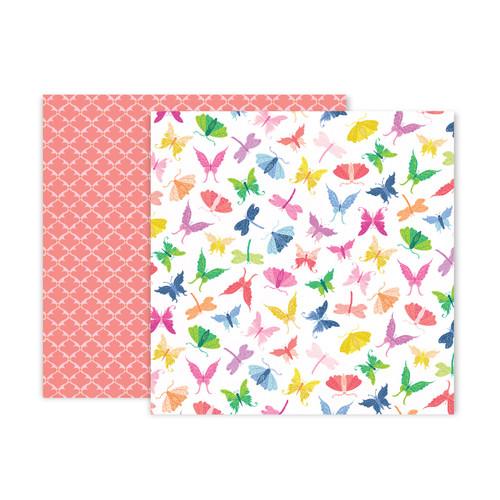 Pink Paislee Horizon 12x12 Paper: Paper 7