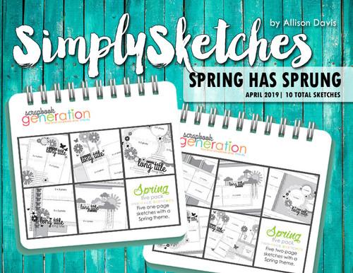 Simply Sketches Ebook: April 2019   Spring Has Sprung