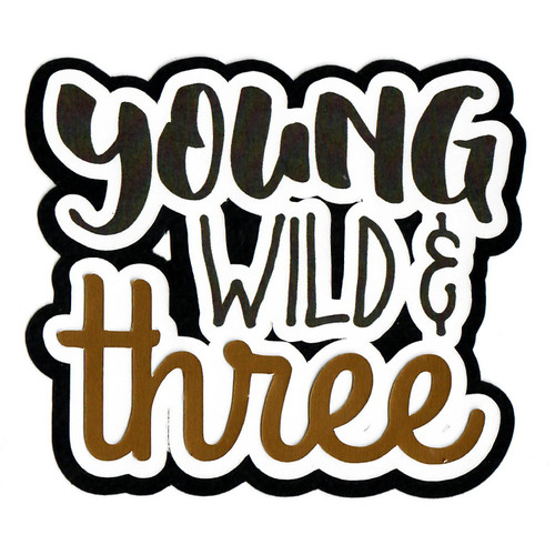 Scrapbooks From The Heart Diecut Title: Young Wild and Three