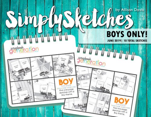 Simply Sketches Ebook: June 2019 | Boys Only!