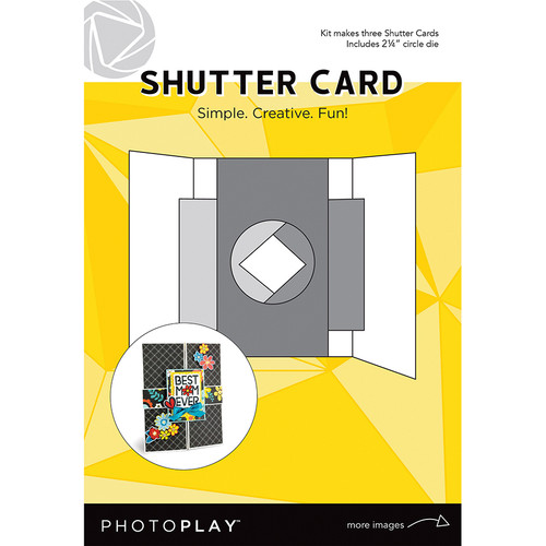 PhotoPlay Maker's Series Creation Bases | Shutter Card w/Circle Die