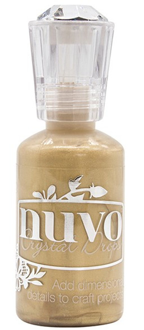 Nuvo Crystal Drops: Mustard Gold (Metallic)