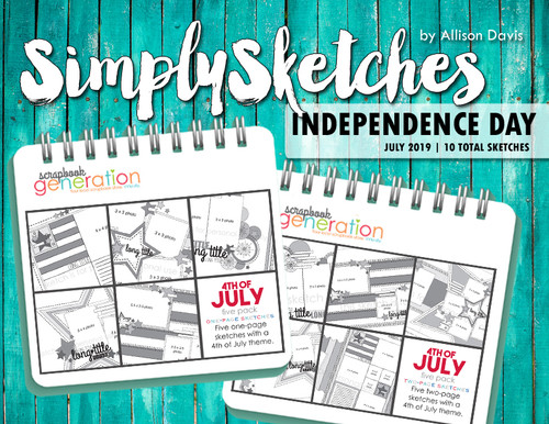 Simply Sketches Ebook: July 2019 | Independence Day