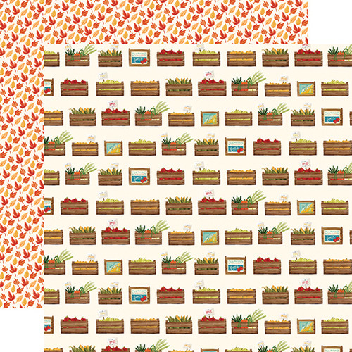 Carta Bella Fall Market 12x12 Paper: Harvest Crates