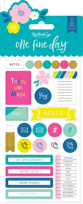 My Mind's Eye One Fine Day Planner Sticker Set