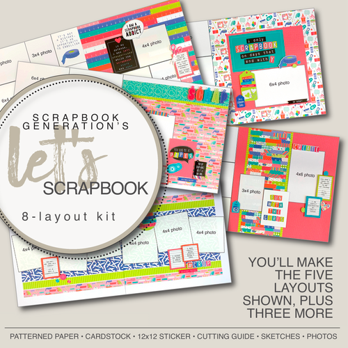 SG: Let's Scrapbook  - 8 Layout Kit