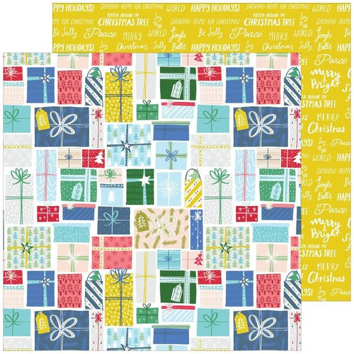 Pinkfresh Studio Home for the Holidays 12x12 Paper: Holiday Gifts
