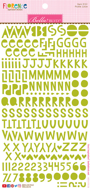 Bella Blvd Florence Alphabet Stickers: Pickle Juice