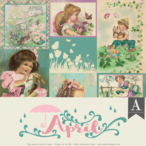 Authentique Calendar Collection 12x12 Paper Pack: April