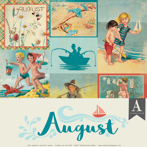 Authentique Calendar Collection 12x12 Paper Pack: August