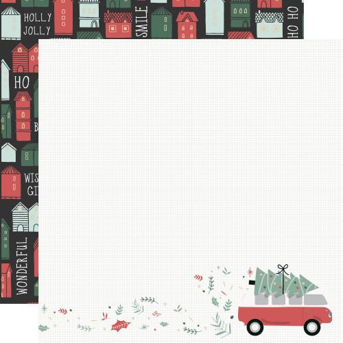 KaiserCraft Peppermint Kisses 12x12 Paper: Combi Christmas
