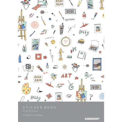 KaiserCraft Crafternoon 6x8 Sticker Book (12 pages)
