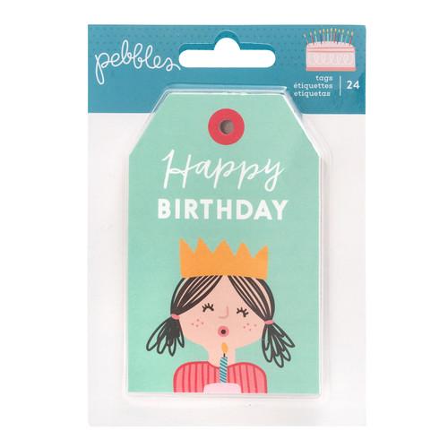 Pebbles Happy Cake Day Tag Pad (24 Piece)