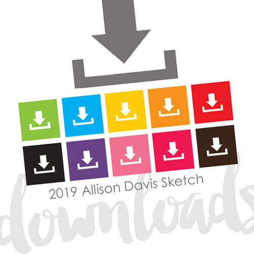 * DIGITAL DOWNLOAD * SKETCH BUNDLE: 2019 We Create Class | Creating with 6x6 Paper Pads