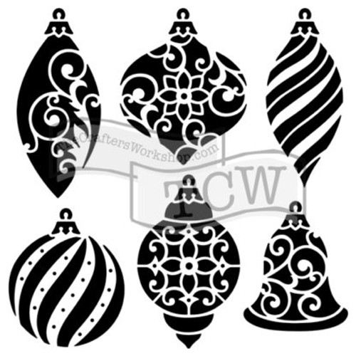 Crafter's Workshop 6x6 Template: Ornaments