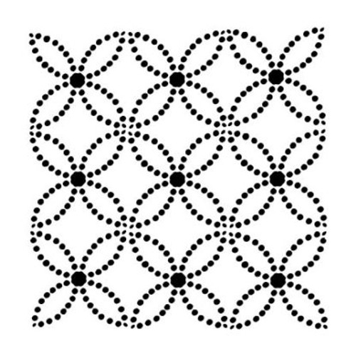 Crafter's Workshop 6x6 Template: Dotted Rings