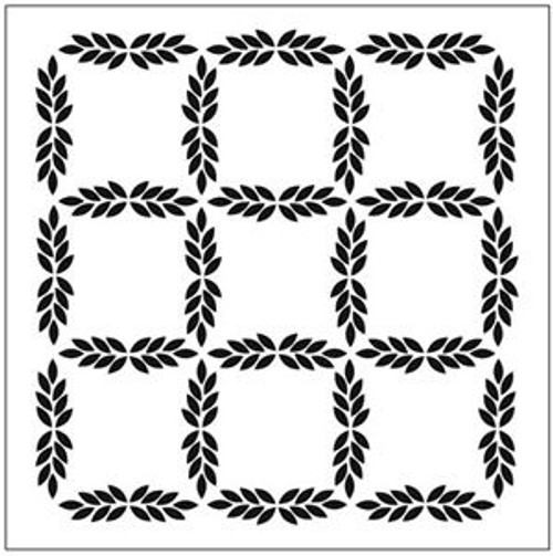 Crafter's Workshop 12x12 Template: Leaf Grid