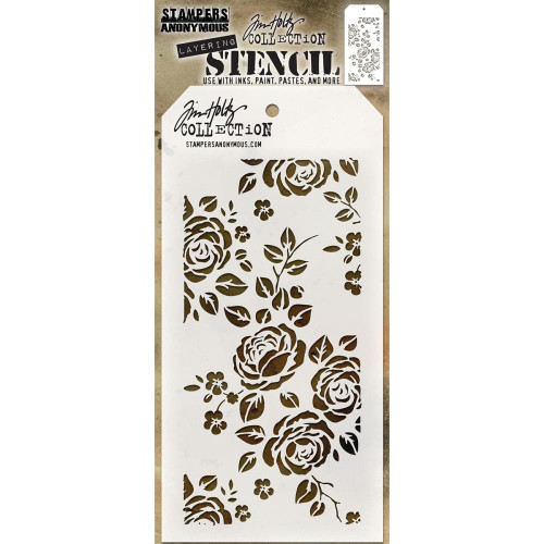 Tim Holtz Layering Stencil: Roses