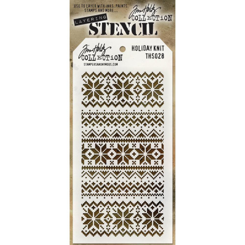 Tim Holtz Layering Stencil: Holiday Knit