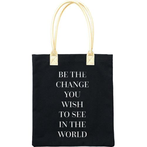 Teresa Collins 16x13 Canvas Tote Bag: Be The Change