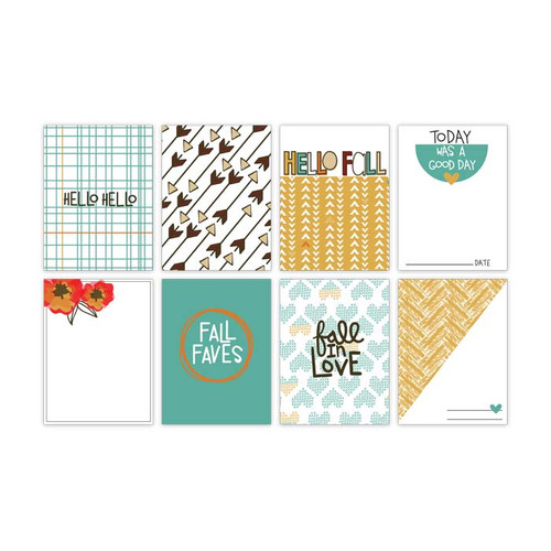 Pretty Little Studio Oakley Avenue Journaling Cards | Apple Cider 3x4