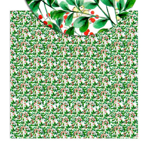 Pretty Little Studio Merry & Bright 8x8 Paper (Single Sided) | Berry Wreath