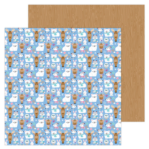 Doodlebug Winter Wonderland 12x12 Paper: Snow Cozy