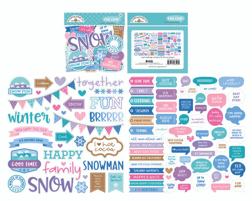 Doodlebug Winter Wonderland Chit Chat Ephemera Pack