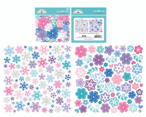 Doodlebug Winter Wonderland Snowflakes Odds & Ends Ephemera Pack