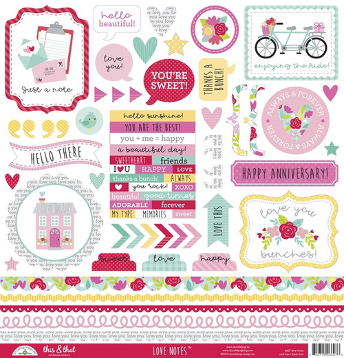 Doodlebug Love Notes Stickers: This & That