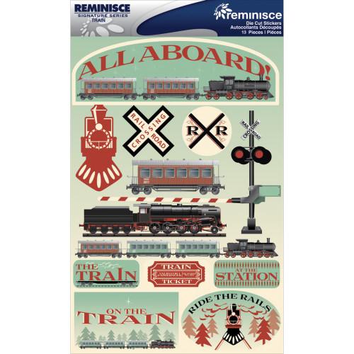 Reminisce Signature Series Dimensional Sticker: Train