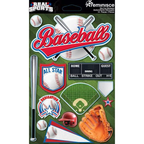 Reminisce Signature Series Dimensional Sticker: Baseball