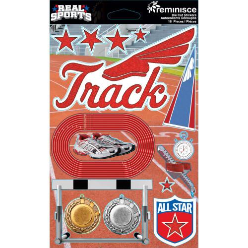 Reminisce Signature Series Dimensional Sticker: Track