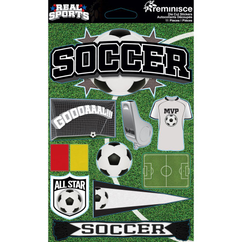 Reminisce Signature Series Dimensional Sticker: Soccer