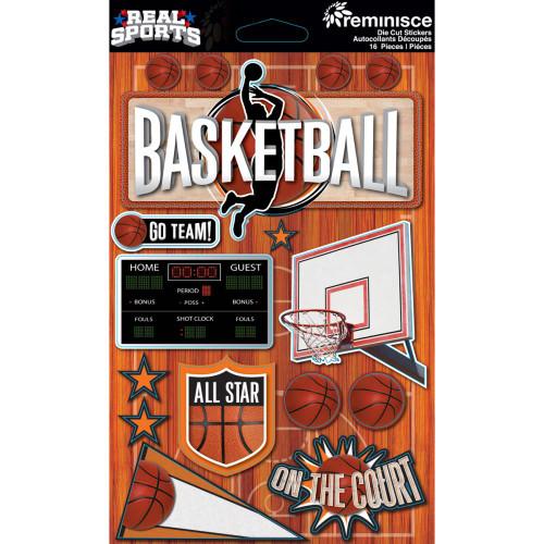 Reminisce Signature Series Dimensional Sticker: Basketball