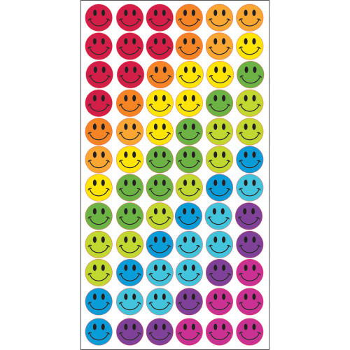 Sticko Puffy Stickers: Rainbow Smiles