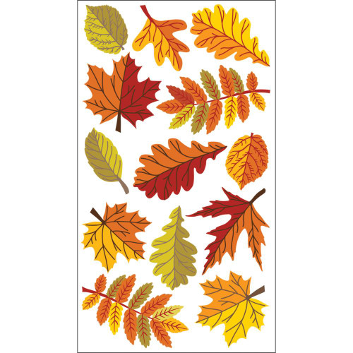 Sticko Puffy Stickers: Fall Leaves