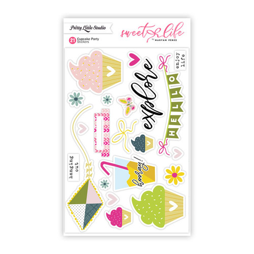 Pretty Little Studio Sweet Life Stickers | Cupcake Party
